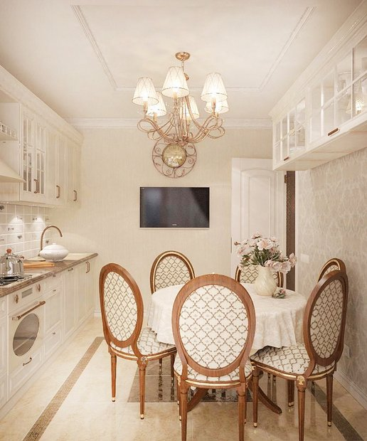 3-neo-classical-style-pastel-white-kitchen-dining-zone-golden-patina