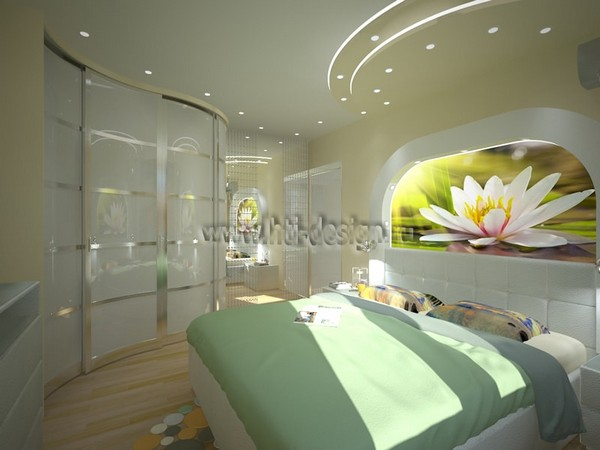 3-tropical-island-style-bright-interior-bedroom-lotus-photo-printing-headboard-wave-shaped-closet-stretch-ceiling