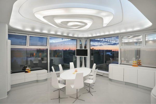 4-2--total-white-glossy-futuristic-style-interior-design-panoramic-windows-self-levelling-floor-3D-ceiling-kitchen-dining-room-corian-table