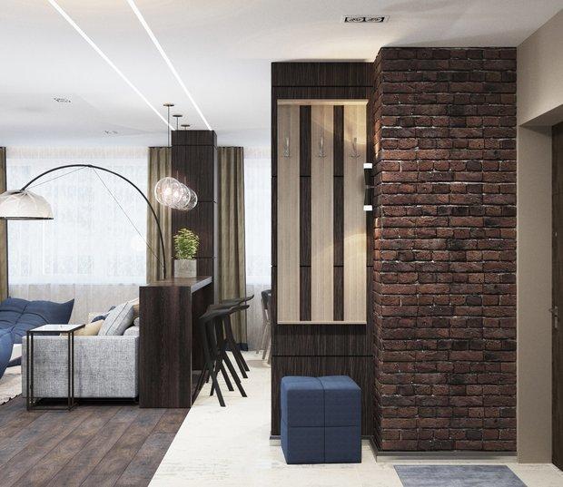 4-gray-beige-brown-interior-for-man-hallway