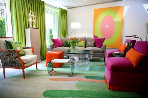 4-green-gray-purple-and-orange-color-in-living-roominterior-design-green-curtains