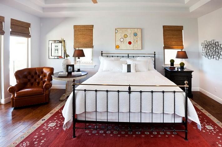 4-mismatched-different-nighstands-bedside-tables-brown-white-bedroom