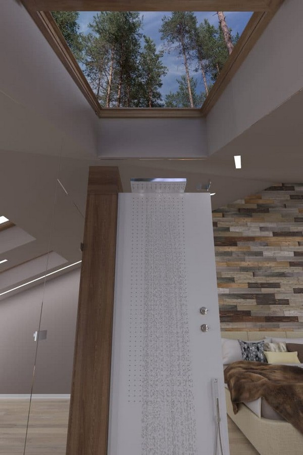 4-modern-naturalistic-eco-attic-interior-design-skylight-glass-shower-cabin-bautiful-forest-view