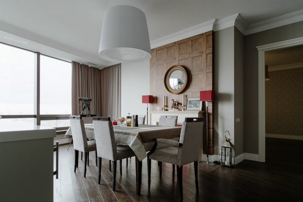 5-English-interior-style-fireplace-selva-dining-room-set-table-chairs-wooden-wall-decor-panoramic-windows (2)