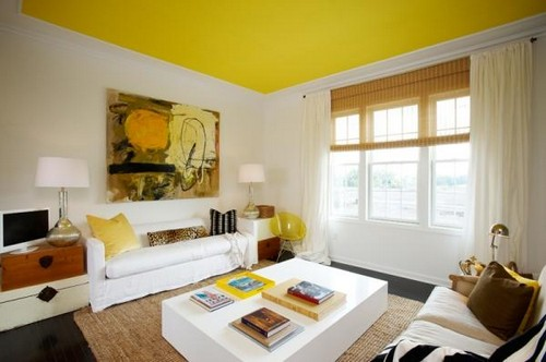 5-non-white-painted-colorful-canary-yellow-ceiling-in-the-living-room-white-walls