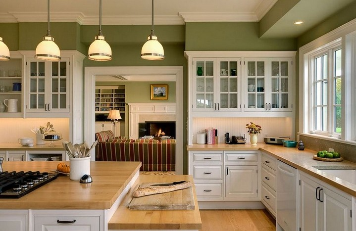 5-white-kitchen-olive-walls-oak-tabletop