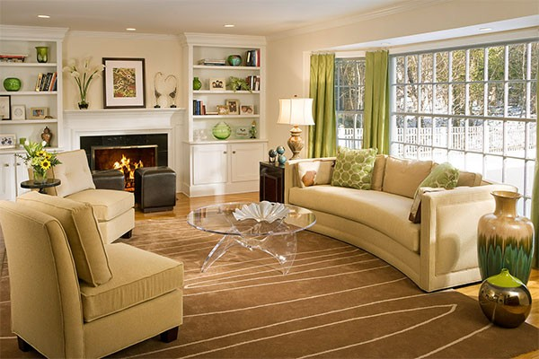 6-beige-interior-classical-living-room-light-green-curtains-accents-fireplace