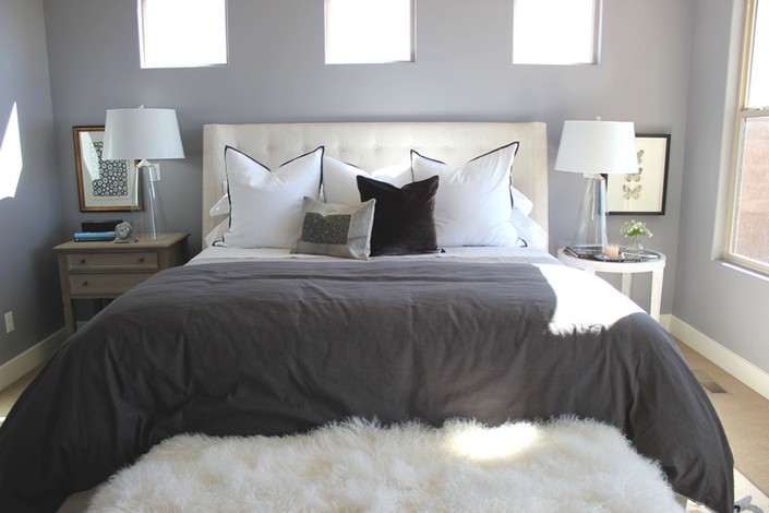 6-mismatched-different-nighstands-bedside-tables-gray-and-white-bedroom