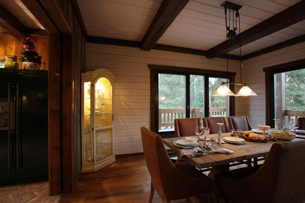 6-vintage-american-country-style-wooden-house-dining-room