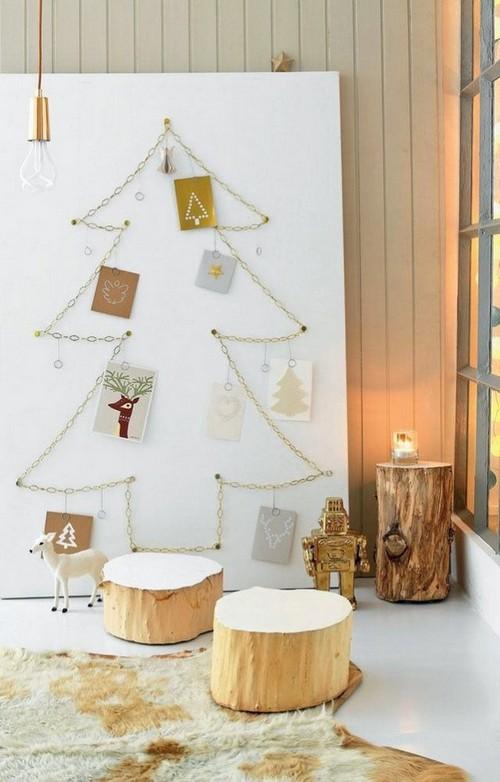 7-diy-hand-made-wall-christmas-tree-chain-postcards