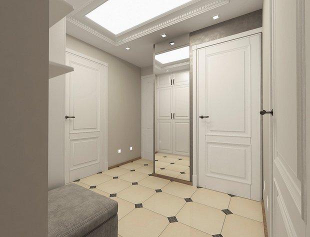 7-neutral-neo-classical-interior-white-doors-beige-floor-tiles-hallway-motion-sensors