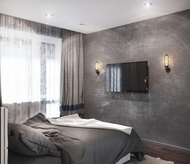 9-1-gray-beige-brown-interior-for-man-bedroom-tv-set-modern-lamps