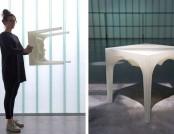 """""""Glacier"""" Stool: 3D-Printed, Designer, Biodegradable"""