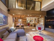 Marvelous Chalet with Scarlet Accents in Meribel, France