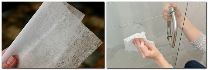 05-1-safe-natural-bathroom-cleaner-cleaning-idea-dryer-sheet-reuse-shower-cabin-door-how-to-remove-stains-life-hack