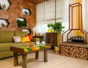 Naturalistic Yellow-and-Green Living Room with Summer Mood