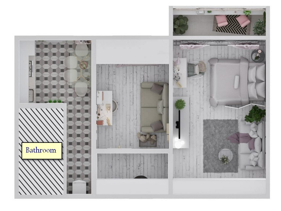 1-light-and-airy-pastel-white-and-lilac-interior-design-two-room-apartment-layout-plan-with-furniture