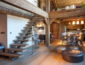 Two-Level Apartment Transformed into a Chalet