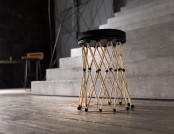 Designer Stool Produced by 3D Printer