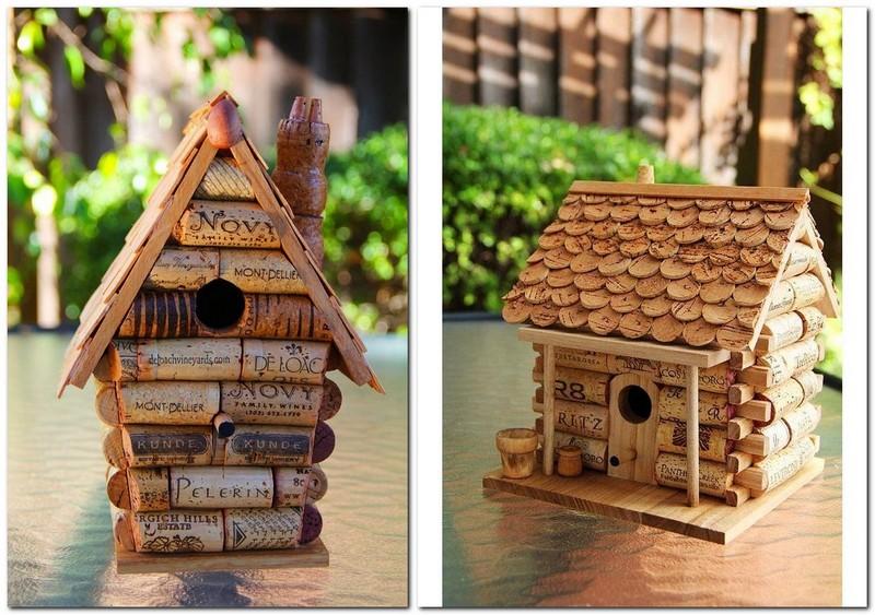 10-wine-cork-re-use-ideas-hand-made-birdhouse