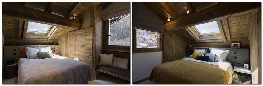 11-chalet-style-interior-design-stone-wood-attic-floor-bedroom-skylights-sloped-ceiling-neutral-decor