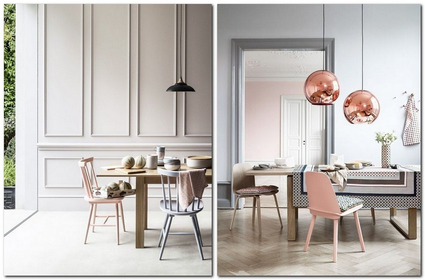 11-pale-dogwood-color-pantone-powder-pink-in-interior-design-pastel-color-dining-room-bronze-lamps-chairs