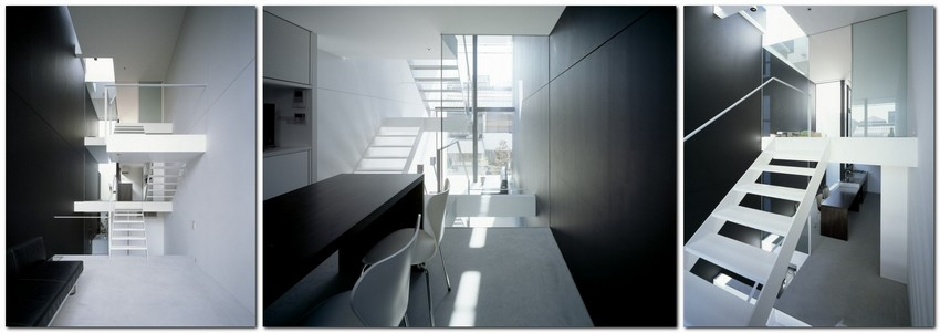 11-world's-narrowest-houses-by-Fujiwaramuro-Architects-Japan-narrow-room-interior-design-glass-panoramic-windows-staicase-white-and-black-modern-style