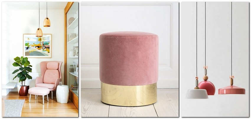 12-pale-dogwood-color-pantone-powder-pink-in-interior-design-pastel-color-decor-padded-stool-ottoman-lamps-arm-chair