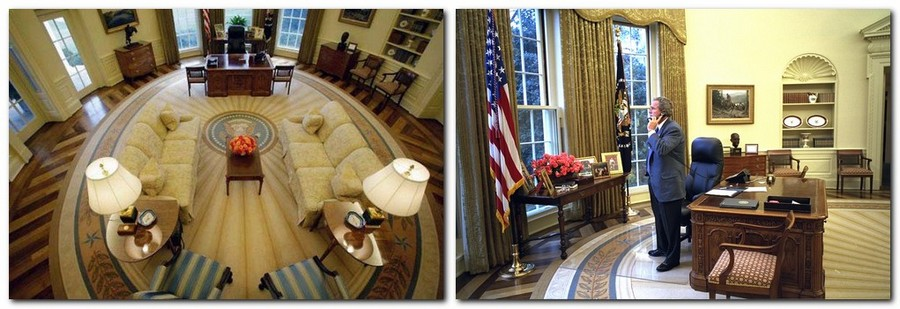 13-George-Bush-the-Oval-Office-White-House-interior-design-neo-classical-style
