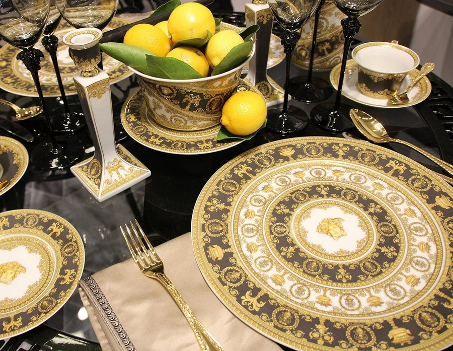 13-Rosenthal-luxury-tableware-kitchen-table-settings-design-at-Maison-and-&-Objet-2017-Exhibition-trade-fair-Paris-gray-white-golden-china-set