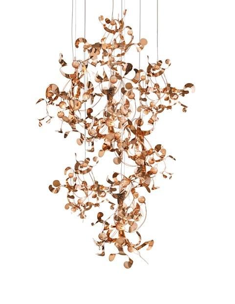 2-Brand-van-Egmond-designer-handcrafted-unusual-Kelp-ceiling-lamp-chandelier-red-copper-finish