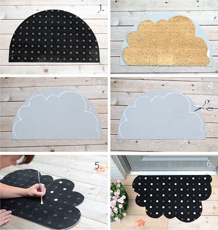 2-DIY-remake-tvis-door-mat-black-IKEA-half-moon-cloud-shaped