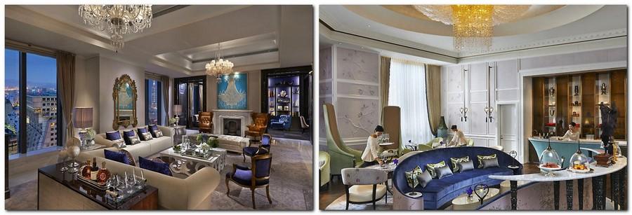 2-Mandarin-Oriental-Hotel-Taiwan -Mandarin-Oriental-Hotel-Taiwan-interior-design -classical-French-style-lobby-bar-blue-and-beige