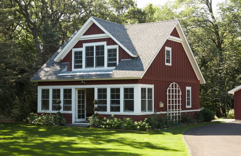 2-beautiful-two-floor-house-brown-and-white-big-trees-windows-lawn-path