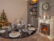 Bi-Color and Bi-Style Living Room