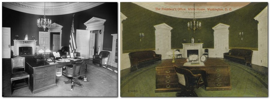 3-2-William-Taft-the-Oval-Office-White-House-interior-design-neo-classical-style