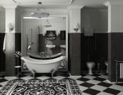 Black-and-White Bathroom Interior Design Tips