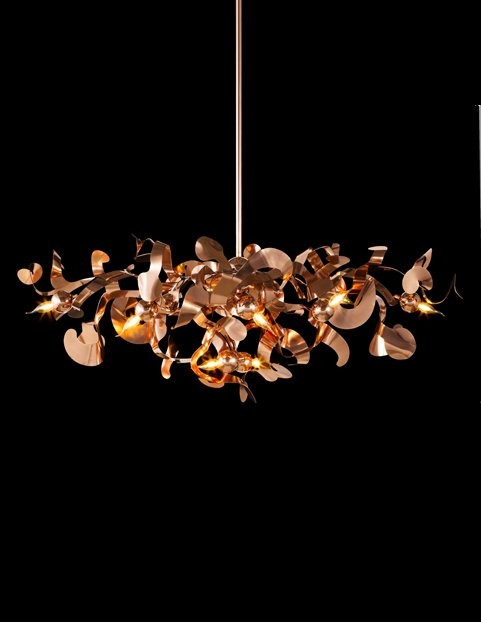 3-Brand-van-Egmond-designer-handcrafted-unusual-Kelp-ceiling-lamp-chandelier-red-copper-finish