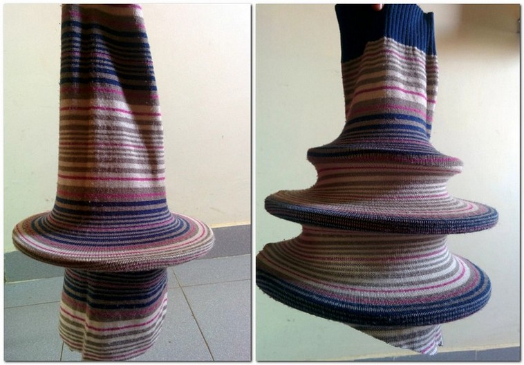 3-DIY-old-sweater-remake-ideas-hand-made-textile-lamp