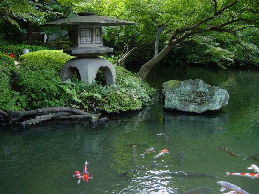 4-3-beautiful-Japanese-garden-koi-pond-stone-lantern