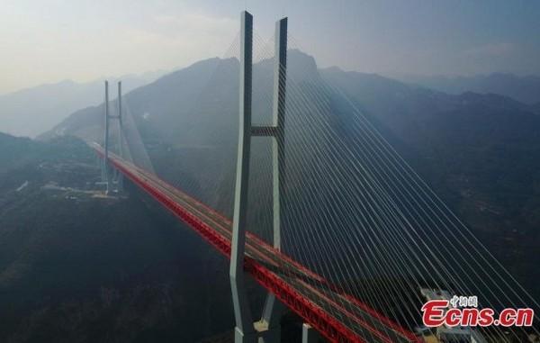 4-world's-highest-bridge-world-record-Beipanjiang-Duge-Bridge-China