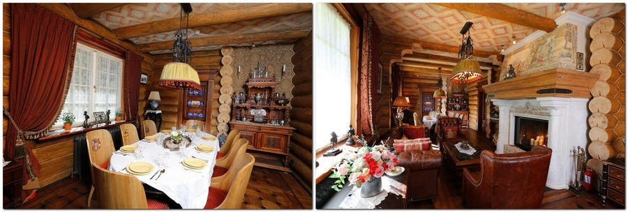 5-2-Russia-Seneshal-luxurious-hotel-interior-design-timber-house-Provence-classical-style-dining-room-fireplace