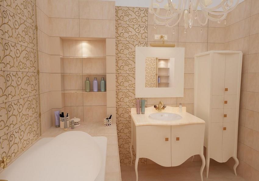 5-beige-and-white-neoclassical-bathroom-interior-design-wash-basin-cabinet-mirror-shelves-ceramic-tiles-chandelier