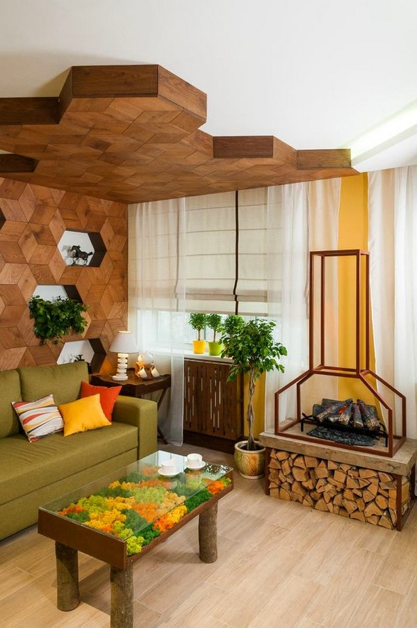 Naturalistic Yellow And Green Living Room With Summer Mood Home Interior Design Kitchen And Bathroom Designs Architecture And Decorating Ideas