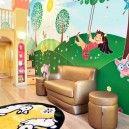 5-bright-toddler-kid's-girl's-bedroom-playroom-room-interior-design-wall-painting-mezzanine-floor-magical-castle-invisible-door