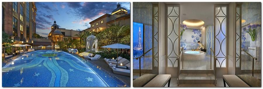 6-1-Mandarin-Oriental-Hotel-Taiwan -Mandarin-Oriental-Hotel-Taiwan-interior-design -classical-French-style-SPA-centre-outdoor-swimming-pool