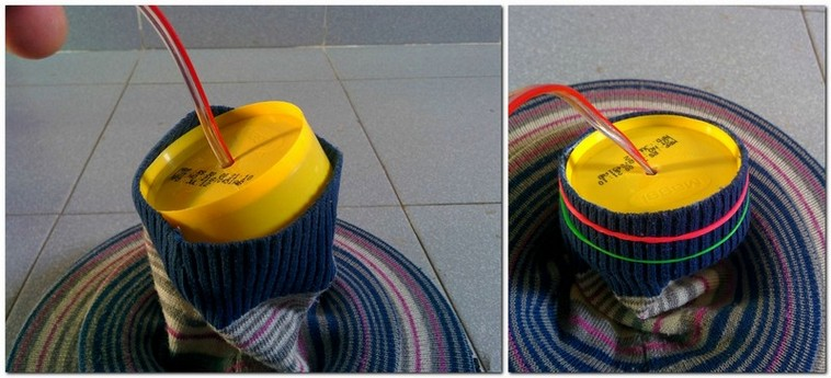6-DIY-old-sweater-remake-ideas-hand-made-textile-lamp