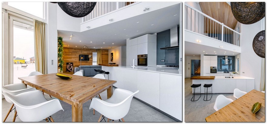 6-white-beige-and-gray-minimalist-Scandinavian-style-house-interior-design-dining-room-panoramic-windows-open-plan-kitchen-living-room-open-to-below-second-floor