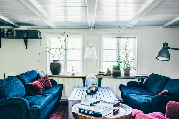 7-Scandinavian-Sweden-bohemian-boho-chic-style-interior-design-living-room-sitting-furniture-upholstered-blue-sofa-couch-arm-chairs
