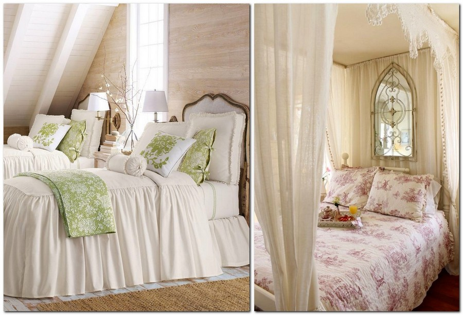 8-Provence-style-bedroom-interior-design-white-and-green-canopy-bed-linen